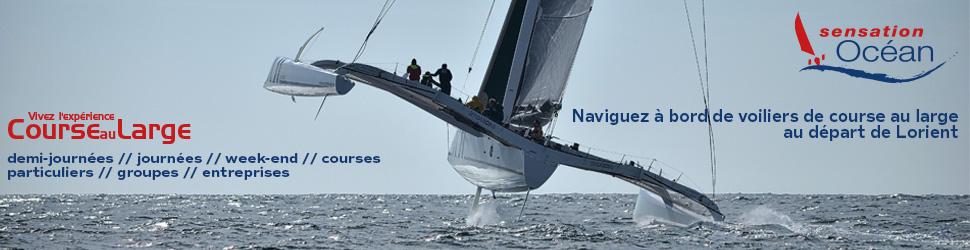 Sensation Océan est là pour vous faire vivre la course au large sur des bateaux de course.