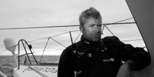 Yann Elies, spécialiste de la Solitaire du Figaro mais aussi coureur sur le Vendée Globe, la Route du Rhum et la Transat Jacques Vabre dont il est le vainqueur.