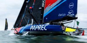 Arkéa Paprec, le 60 pieds Imoca de Sébastien Simon est l'un des 8 bateaux neufs du Vendée Globe 2020