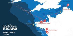 Le parcours de la Solitaire du Figaro 2020 fera 1830 milles