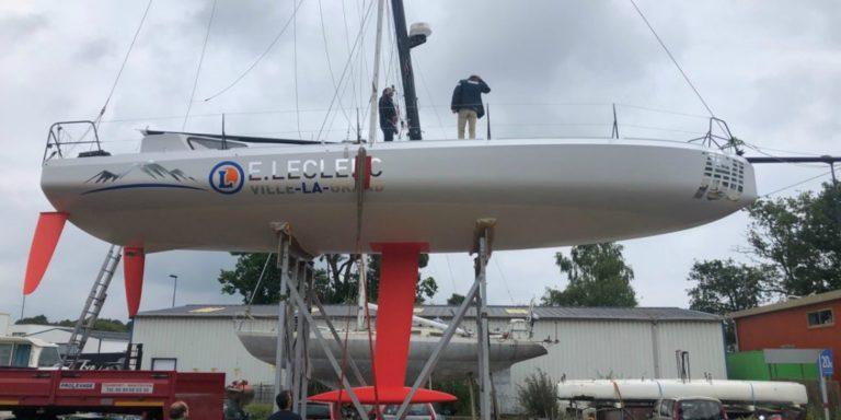 Olivier Magré a mis à l'eau son nouveau Class40 début juin