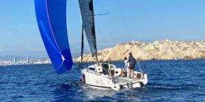 Marie Riou et Benjamin Schwartz à l'entraînement en L30 à Marseille