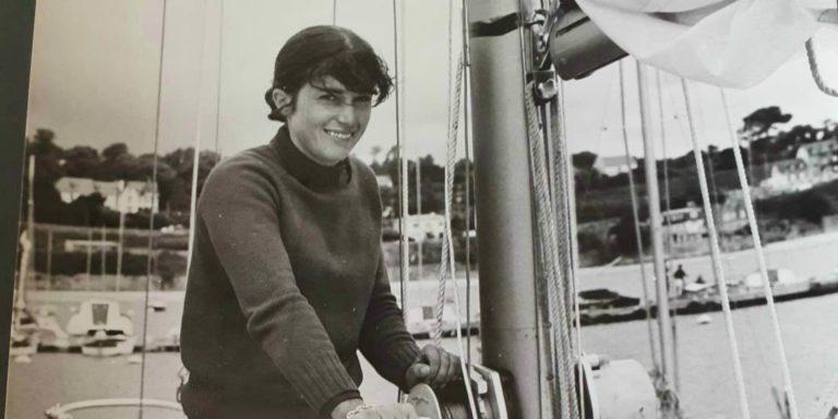 Marie-Claude Fauroux sur la Solitaire du Figaro en 1971