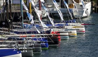 La flotte de Figaro au départ de la solitaire du Figaro