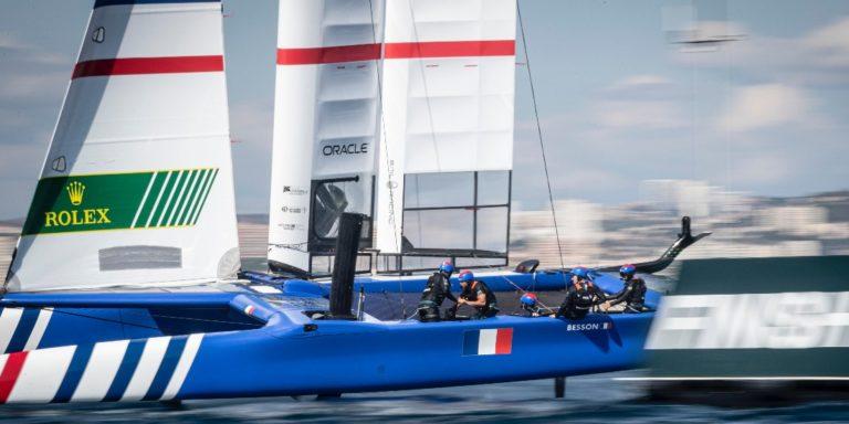L'équipe française de SailGP en action