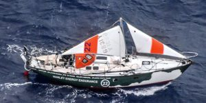 Gréement de fortune sur la Golden Globe Race