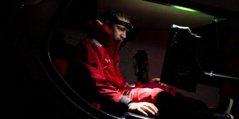 Benjamin Dutreux, navigateur à bord d'Offshore Team Germany