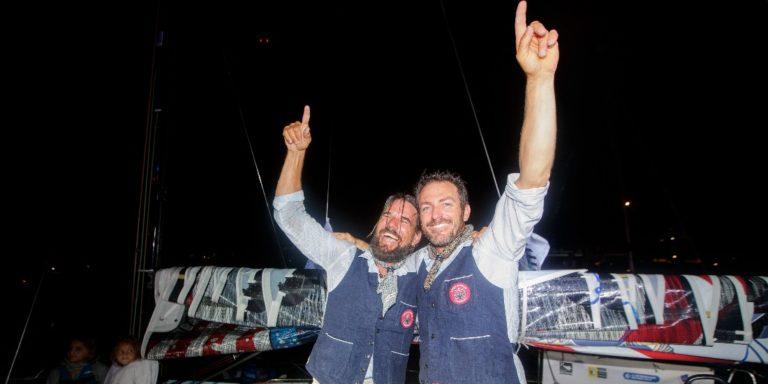 Miguel Danet et Eric Péron à l'arrivée à Saint-Barth