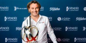 Yannick Bestaven lors de la remise des prix du Vendée Globe