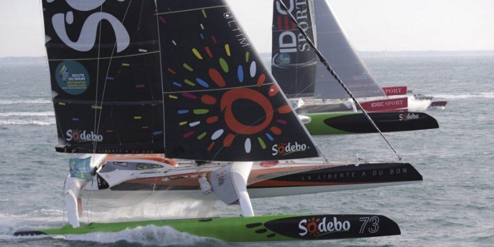 Sodebo Ultim et Idec Sport au départ de la Route du Rhum 2018