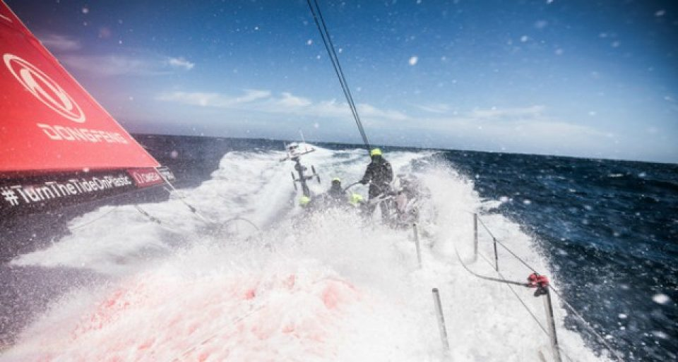 Leg 3, Cape Town to Melbourne, day 10, on board Dongfeng. it's snowing onboard and Chistmas time is approching,  Photo by Martin Keruzore/Volvo Ocean Race. 19 December, 2017.