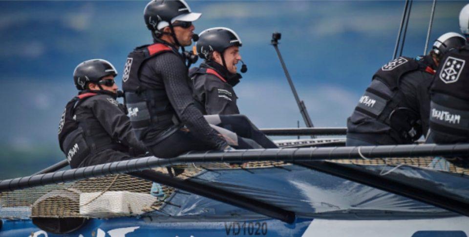 Sébastien Col à bord de Realteam Sailing