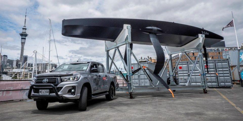 Emirates Team New Zealand a présenté la semaine dernière son bateau-test de 12 mètres
